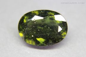 Moldavite, faceted, Locenice, Czech Republic.  6.35 carats.
